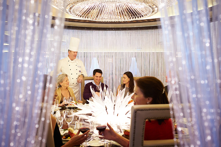 Dining at Chef's Table Lumiere
